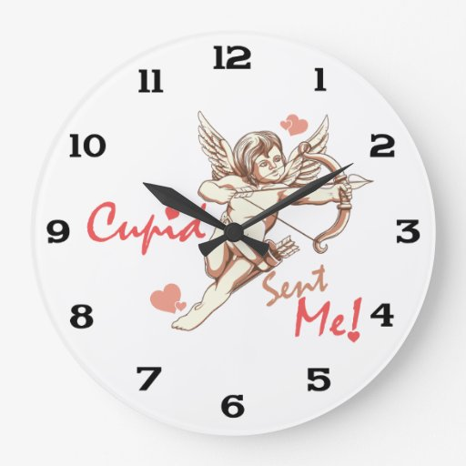 Cupid Sent Me - Valentine's Day Clocks