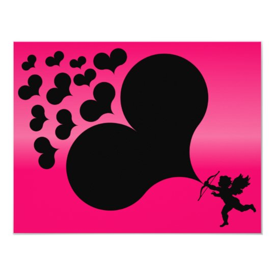 Cupid Shooting Hearts Card