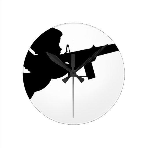 cupid shooting round wall clocks