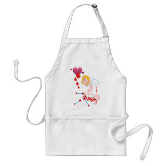 Cupid Shoots For The Heart Adult Apron
