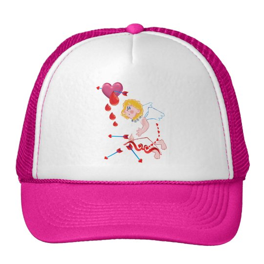 Cupid Shoots For The Heart Trucker Hat