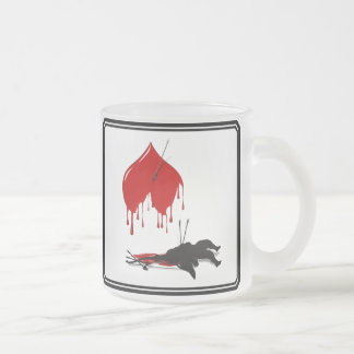 Cupid Shot Down (Anti-Valentine) 10 Oz Frosted Glass Coffee Mug