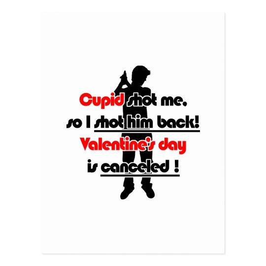 cupid shot me black postcard