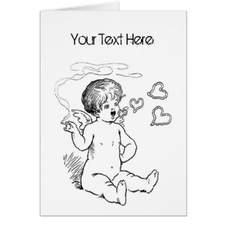 Cupid Smoking Vday Stationery Card