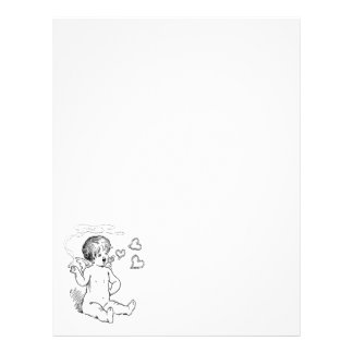 Cupid Smoking Vday Stationery Letterhead