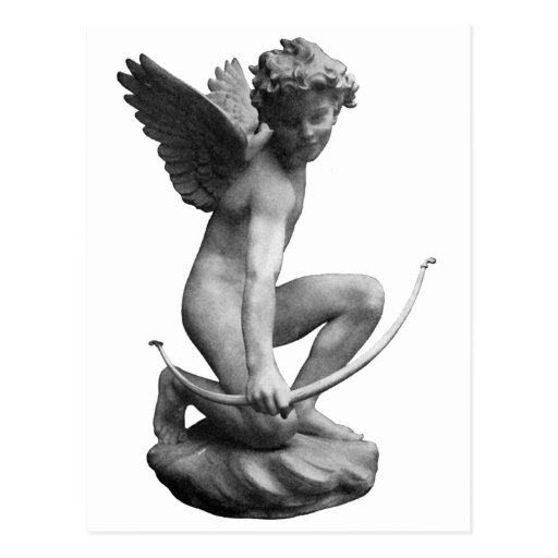 Cupid Statue Giftware Postcards