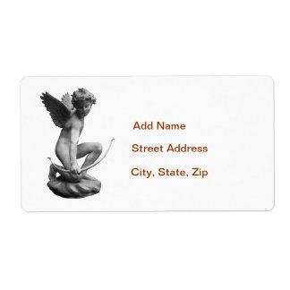 Cupid Statue Label