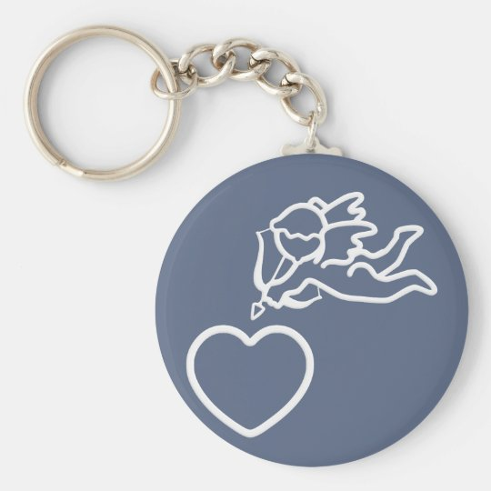 Cupid Strikes custom key chain