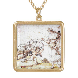 Cupid the Honey Thief Gold Plated Necklace