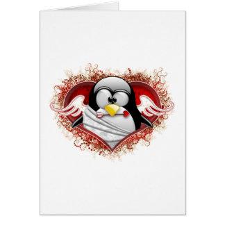 Cupid Tux de la tarjeta del día de San Valentín