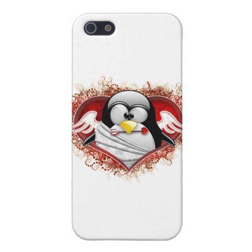 Cupid Tux de la tarjeta del día de San Valentín iPhone 5 Carcasa