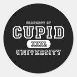 Cupid University Dark Classic Round Sticker