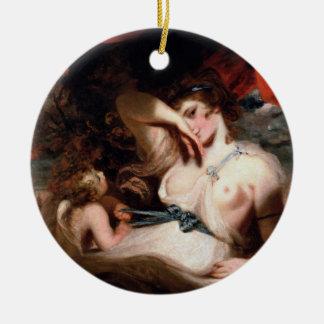 Cupid Untying the Zone of Venus Ceramic Ornament