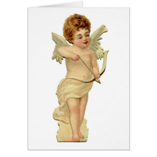 Cupid Valentine card--100 year old image.