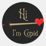 Cupid Valentine Round Sticker