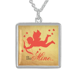 Cupid valentine's day sterling silver necklace