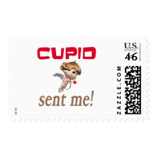 Cupid Valentines Stamps