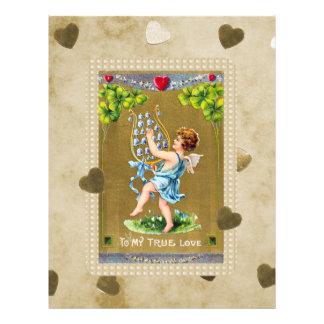 Cupid verdadero de la tarjeta del día de San Membrete A Diseño