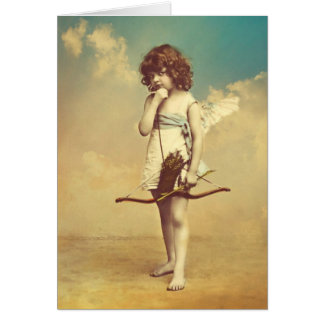 Cupid Vintage Photographic Image Card