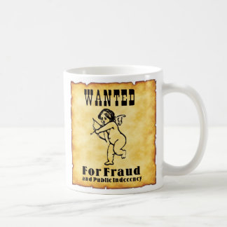 Cupid Wanted Poster Coffee Mug