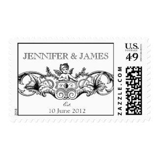 Cupid Wedding Logo Postage Stamps
