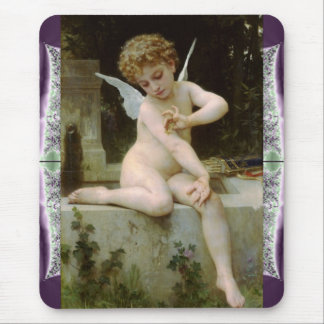 Cupid With A Butterfly Mouse Pad
