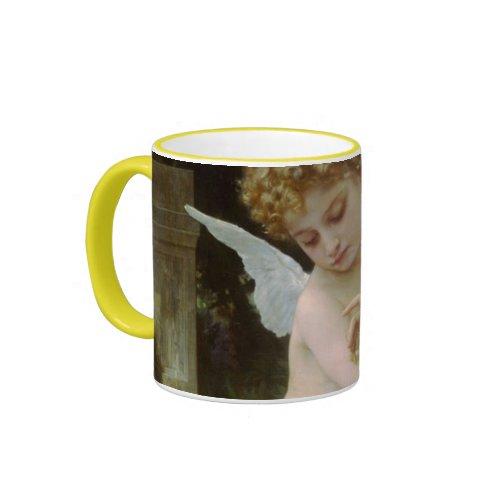 Cupid with a Butterfly Mug zazzle_mug