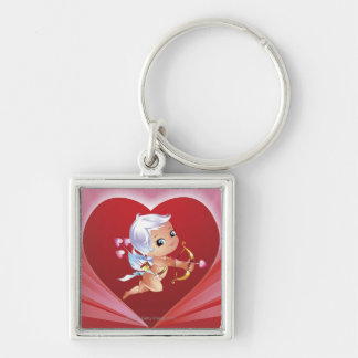 Cupid with bow and arrow keychain