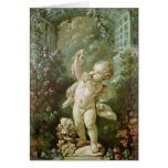 Cupid with Grapes Greeting Cards