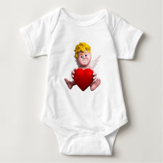Cupid with heart infant creeper