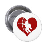 Cupid Within a Heart (Add Your Text) Button