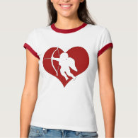 Cupid Within a Heart (Add Your Text) T-Shirt