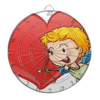 Cupid y corazón tablero dardos