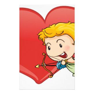 Cupid y corazón papelería
