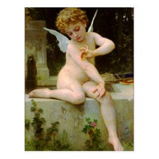 Cupid y mariposa por Bouguereau Postal