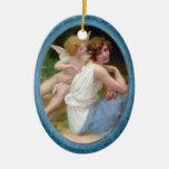 Cupid y ornamento de la psique ornamento de reyes magos
