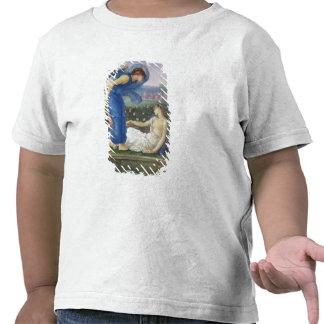 Cupid y psique c 1865 w c bodycolour y pasado camiseta