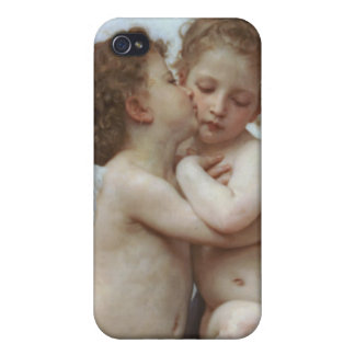 Cupid y psique como bebés iPhone 4 cárcasa