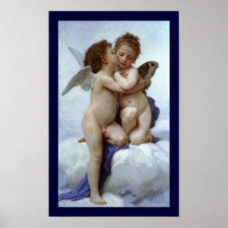Cupid y psique como los niños/ángel primero se bes impresiones