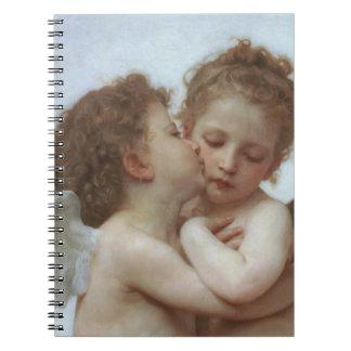 Cupid y psique como niños cuadernos