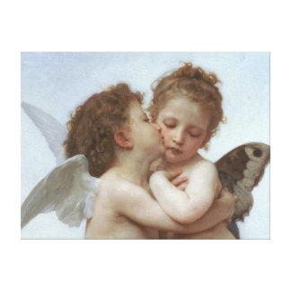 Cupid y psique como niños lona envuelta para galerías