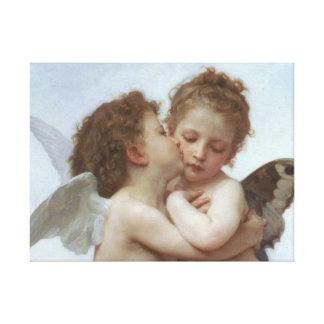 Cupid y psique como niños lienzo envuelto para galerías
