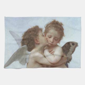 Cupid y psique como niños toalla