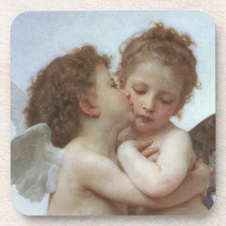 Cupid y psique como niños posavaso