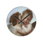 Cupid y psique como niños relojes