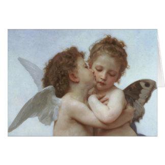 Cupid y psique como niños tarjeta de felicitación