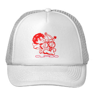 Cupido in red on a cap trucker hat