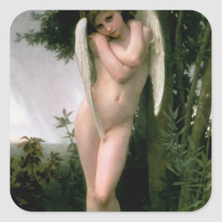 Cupidon, 1891 square sticker