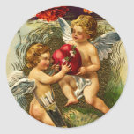 Cupids and Carnations Vintage Valentine Stickers