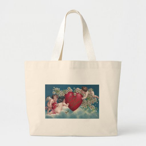 Cupids and Daisies in the Clouds Jumbo Tote Bag